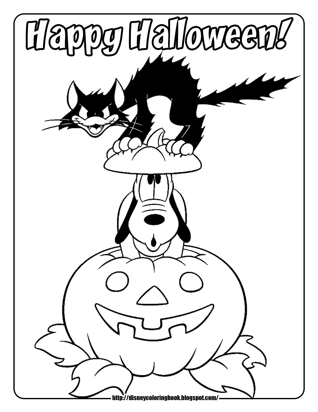 pumpkin halloween coloring pages - Halloween Coloring Pages on Pinterest Halloween