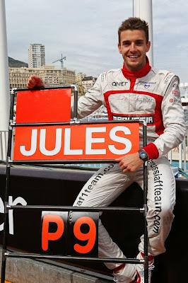 Жюль Бьянки празднует первые очки для себя и команды в Формуле-1 на Гран-при Монако 2014