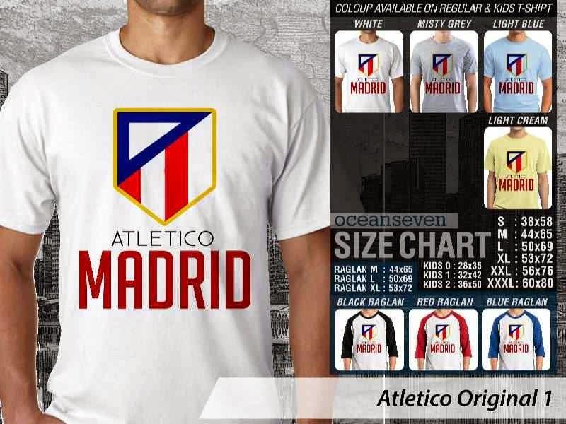 KAOS Atletico madrid 6 Logo Klub Bola distro ocean seven