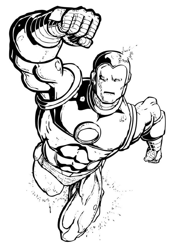 superhero coloring pages to print - Marvel Coloring Pages Superhero ColoringPedia