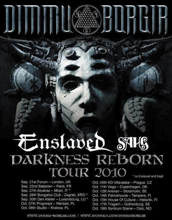 Dimmu Borgir + Enslaved + Sahg @ Le Bataclan, Paris 22/09/2010