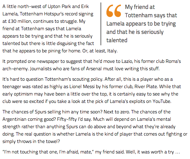 Screen+Shot+2014 01 16+at+14.17.14 The Secret Footballer sheds insight into Erik Lamelas struggles at Spurs
