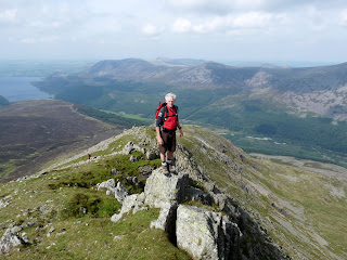Roger on Long Crag