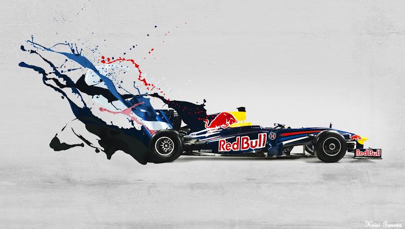 арт болида Red Bull RB5 by Krisi Ganeva