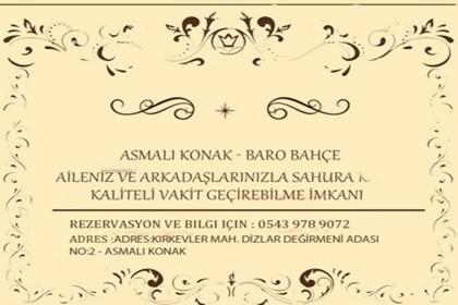 Asmalı Konak – Baro Bahçede Ramazana Özel İftar Menüsü