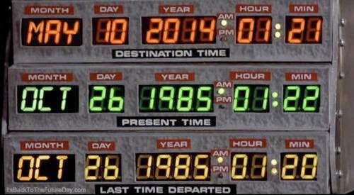 Keeping an eye out for Marty McFly today...