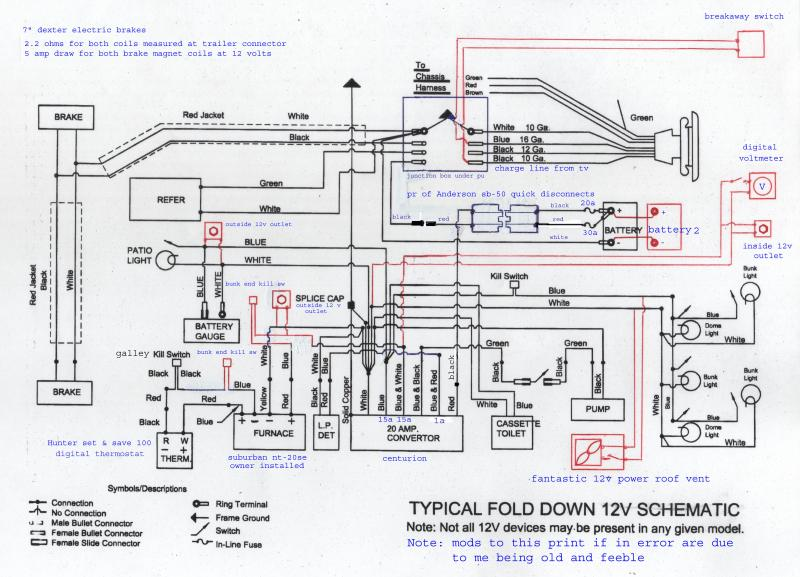 camper wiring wiring diagram for pop up camper readingrat net tent trailer battery wiring diagram at gsmportal.co