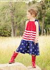 Patriotic Tiered Dress