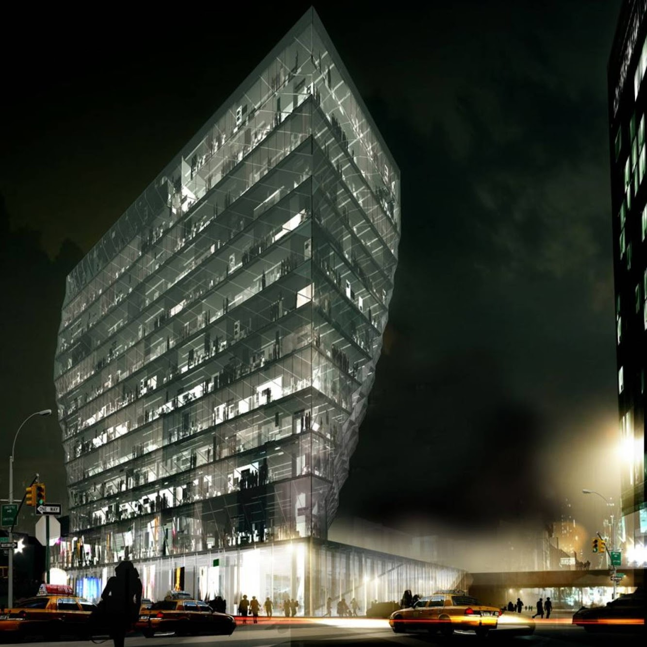 New York, Stati Uniti: Solar Carve Tower by Studio Gang Architects
