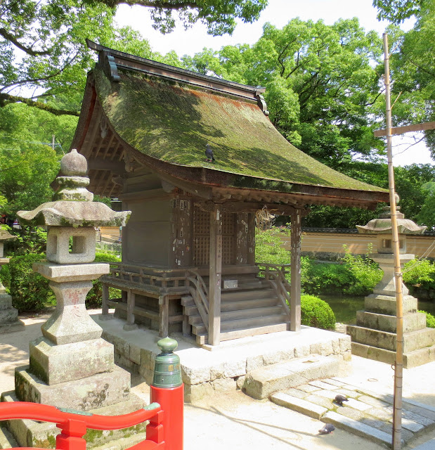 On the Dazaifu Tenmangu Shrine grounds