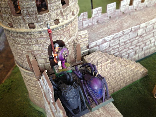 Spiders assaulting the cannon tower