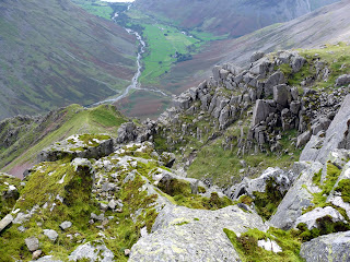 Looking down to Wasdale