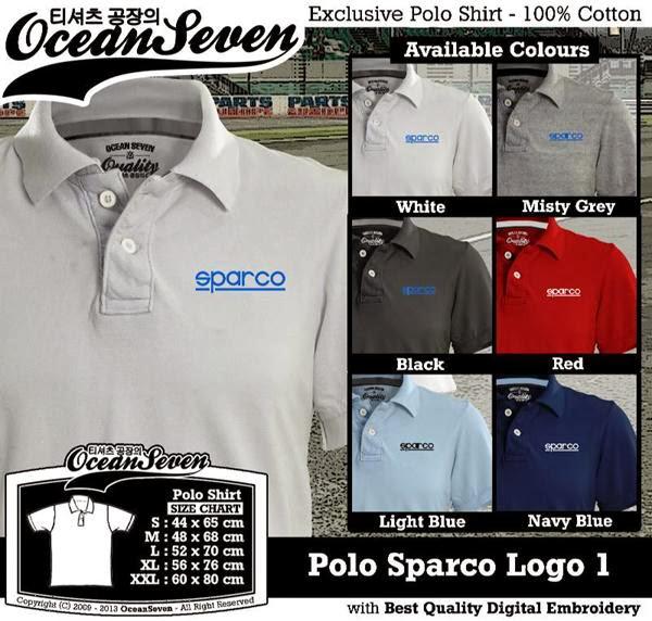 POLO Sparco Logo distro ocean seven