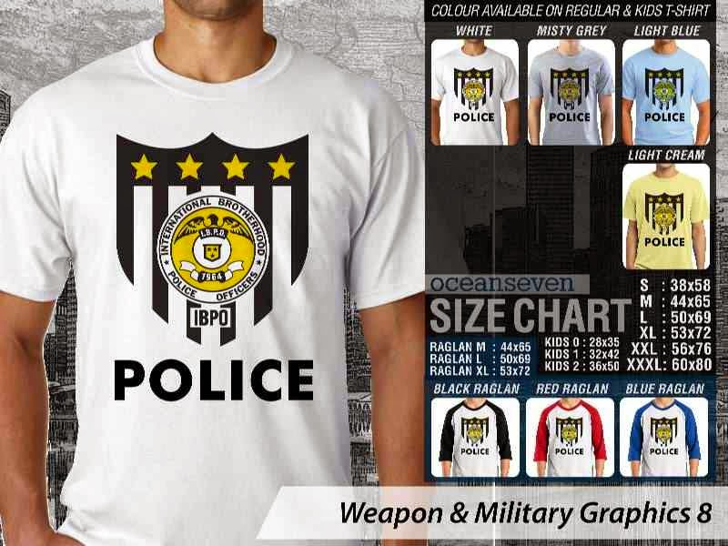 KAOS Police polisi Weapon & Military Graphics 8 distro ocean seven