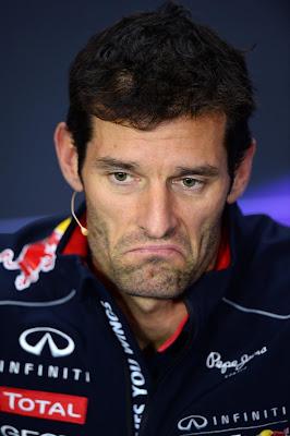 классическое выражение лица Марка Уэббера на пресс-конференции Гран-при Великобритании 2013
