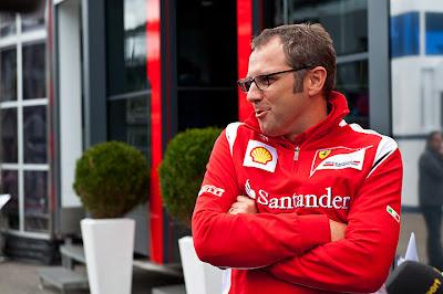 Стефано Доменикали дает интервью на Гран-при Бельгии 2011