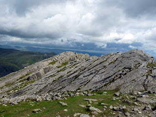Looking back to yet another view of the top of The Great Slab - Bowfell