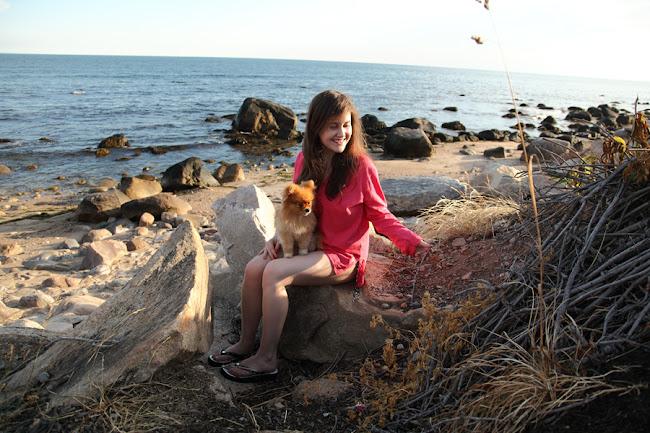 Caroline Culler in Weekapaug, Rhode Island