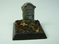 Gravestone marker Fantasy war game terrain and scenery