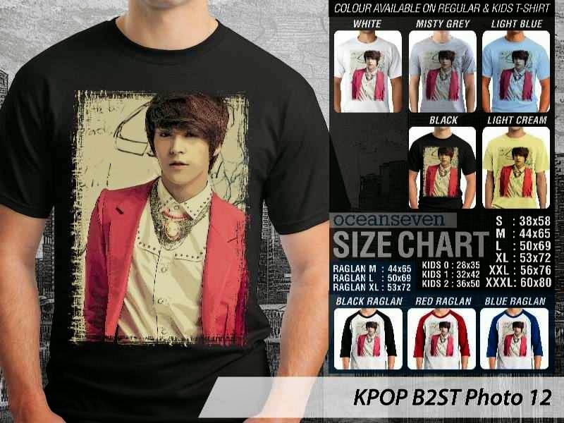 Kaos B2st 12 Photo K Pop Korea distro ocean seven