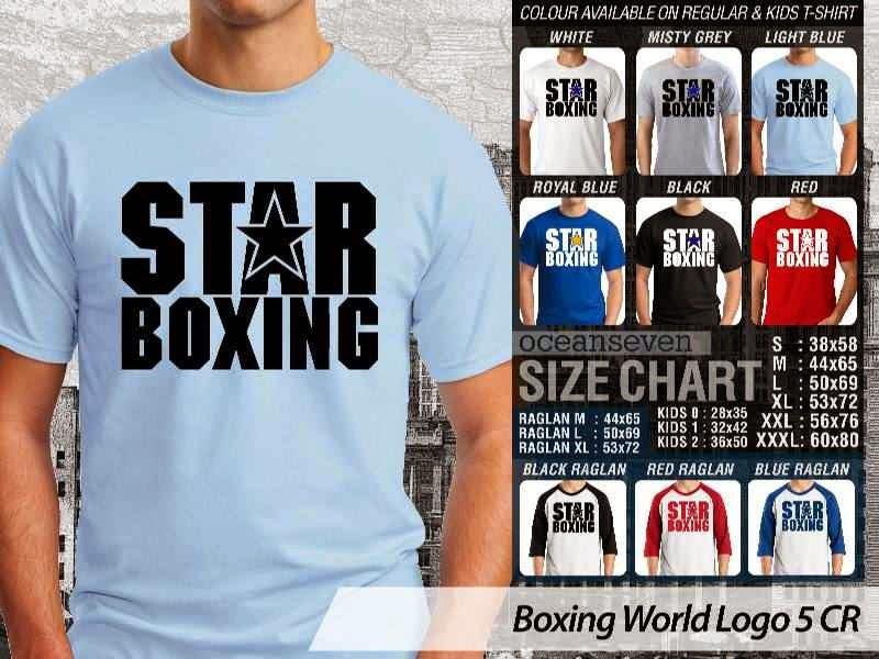 Kaos Olah Raga Sport Boxing World Logo 5 distro ocean seven