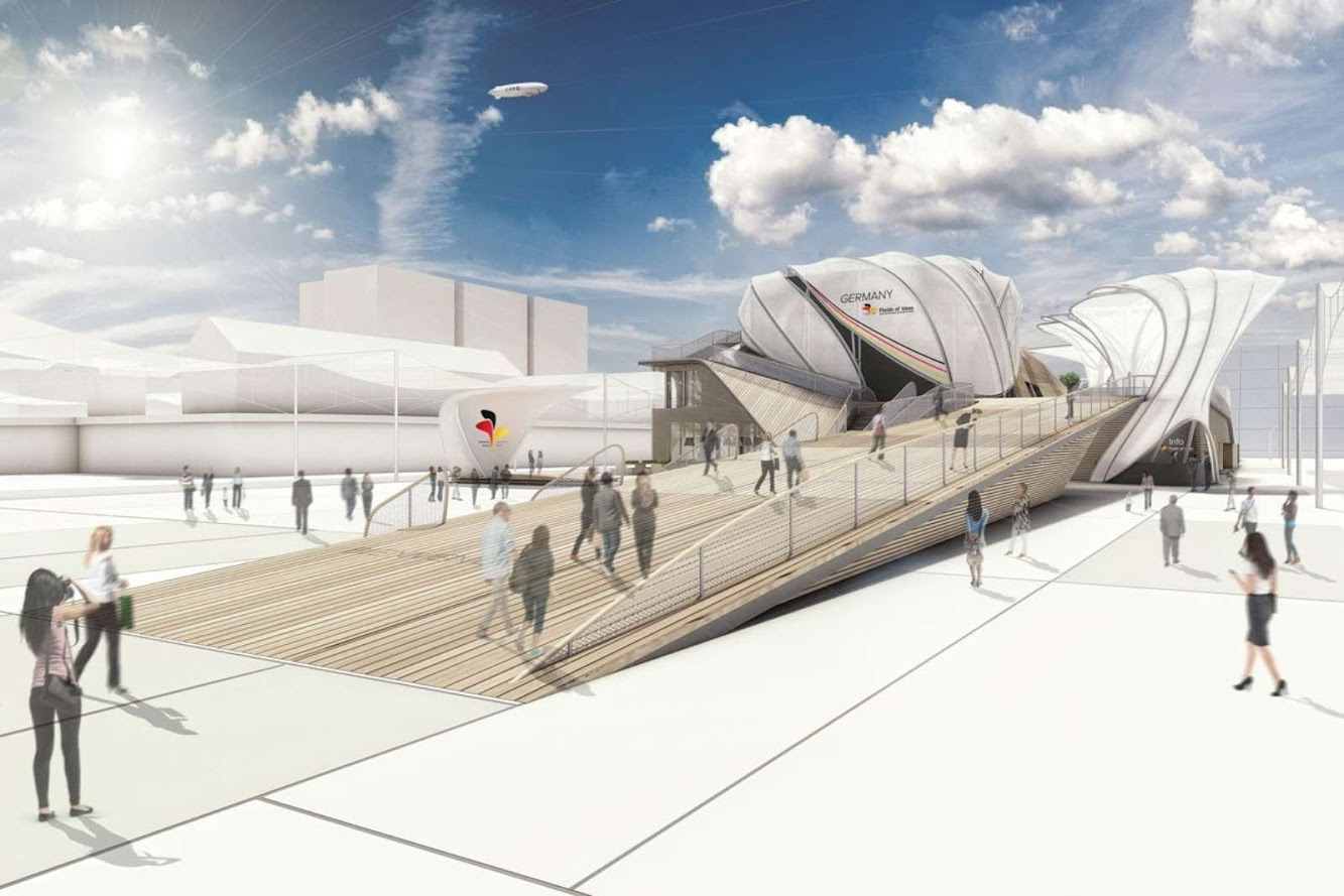 Milano, Italia: German Pavillon For Expo Milano 2015 by Schmidhuber