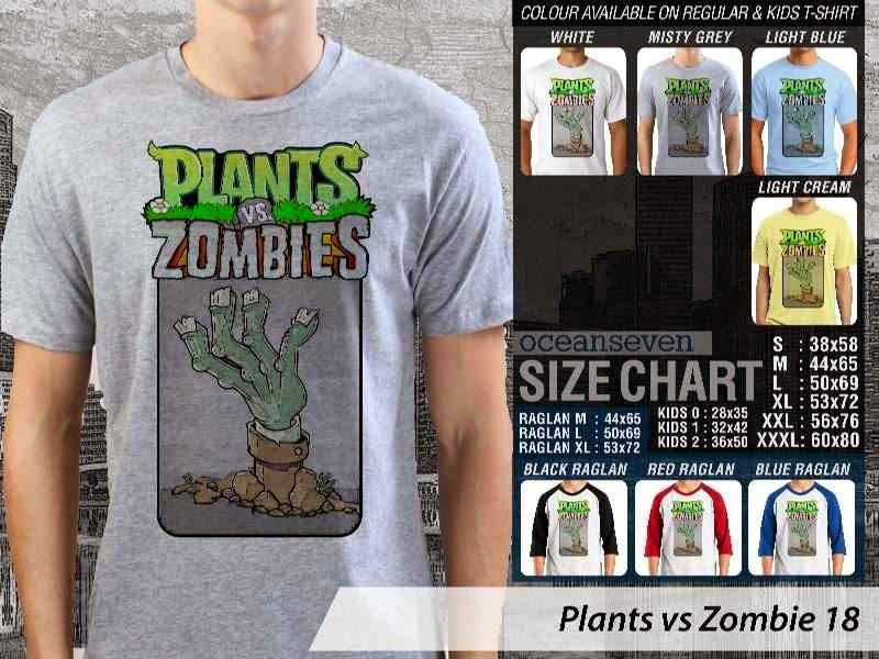 KAOS Plants VS Zombie pvz 18 Game Lucu distro ocean seven