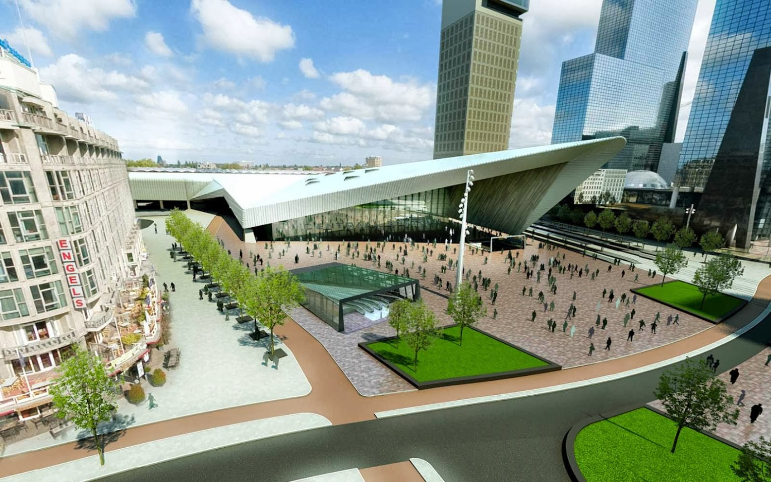 Rotterdam Central Station by MVSA Architects