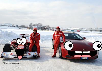 фотошоп Ferrari с глазами