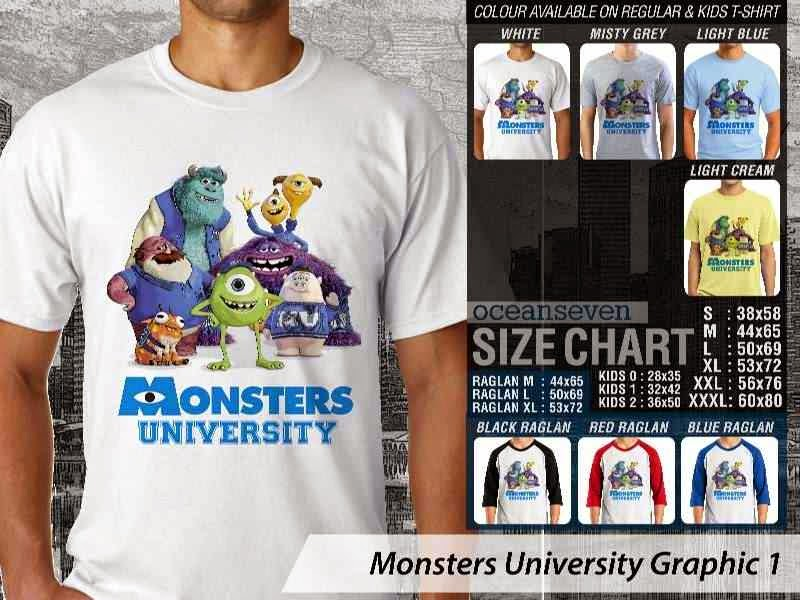KAOS Monster University 11 Film Lucu distro ocean seven
