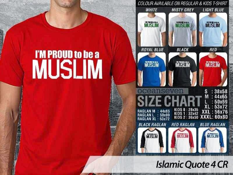 Kaos Muslim Quote 4 Im Proud to be a Muslim distro ocean seven