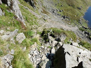 Looking down from near start of Jacks Rake