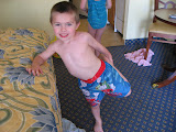 Bryan ready to go to the beach