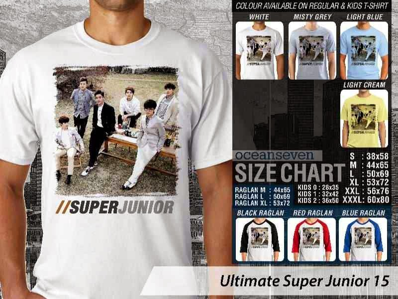 Kaos K Pop SUJU Ultimate Super Junior 15 Boy Band Asal Korea distro ocean seven