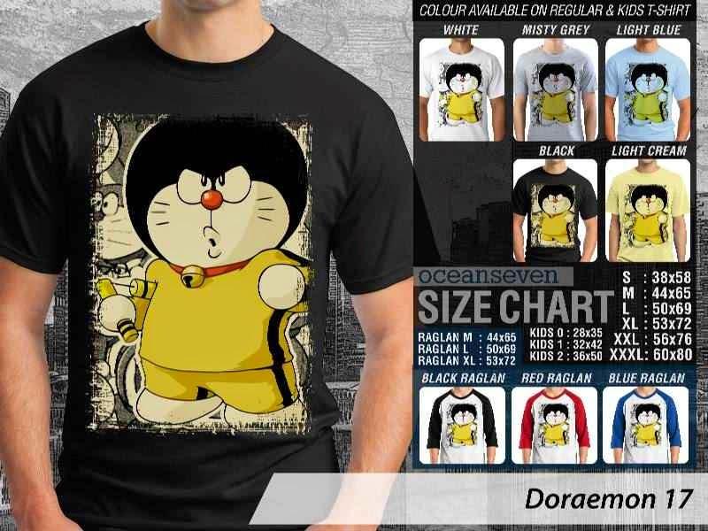 KAOS Doraemon 17 Manga Lucu distro ocean seven
