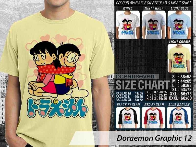 KAOS Doraemon 52 Manga Lucu distro ocean seven