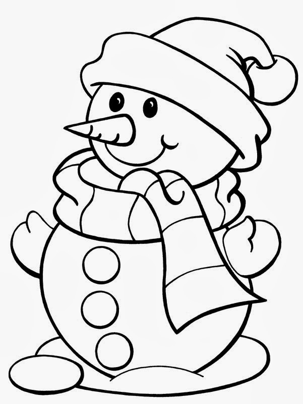 free coloring christmas pages printable - Christmas Coloring Pages