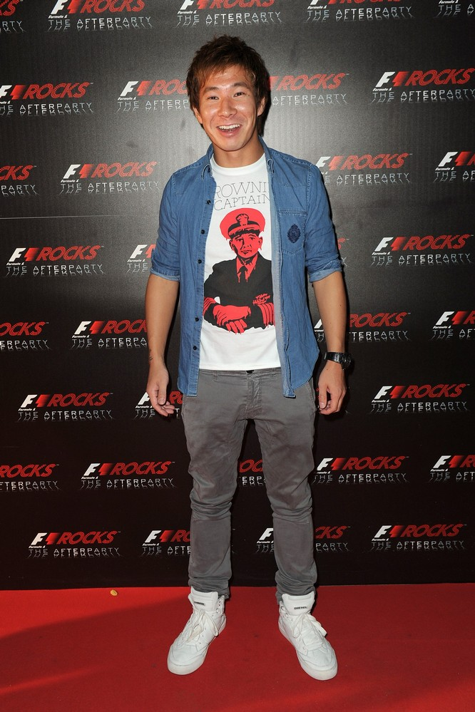 Камуи Кобаяши на F1 Rocks в Милане после Гран-при Италии 2011