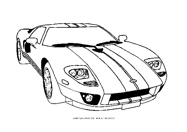 Sports Cars (Dover Coloring Books) Bruce LaFontaine  - sports car coloring pages
