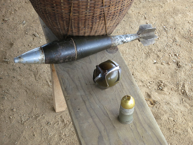 A small sampling of the unexploded ordnance (UXO) found in Laos.