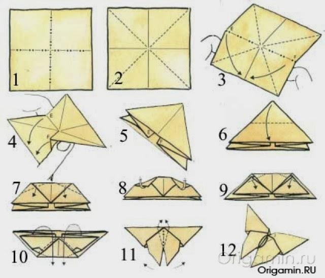 Бабочка оригами своими руками схемы