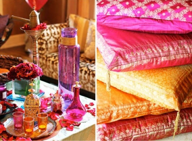 Decoración marroquí para boda