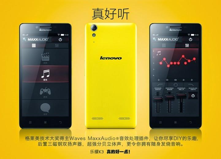 Lenovo K3 - Spesifikasi Lengkap dan Harga