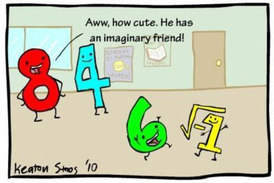 Aww, how cute. He has an imaginary friend!