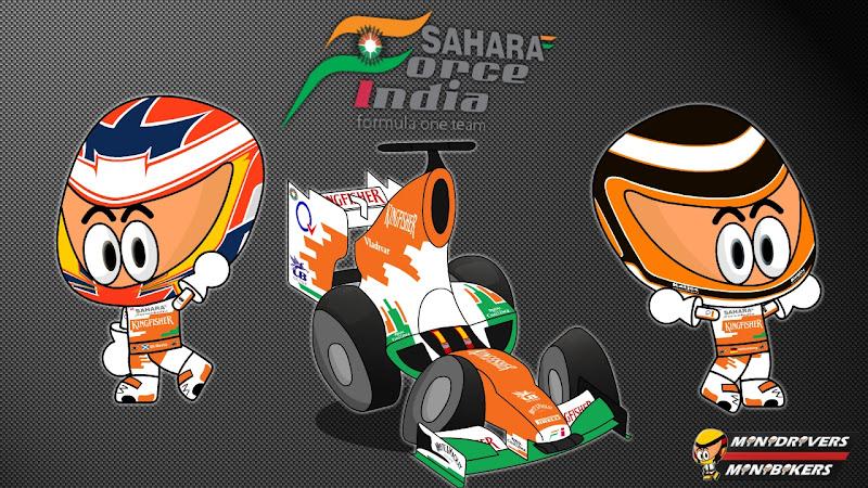 Force India VJM05 и пилоты Пол ди Реста и Нико Хюлькенберг от Los MiniDrivers