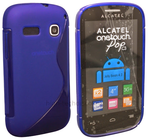 Housse etui coque silicone gel fine pour alcatel one touch for Housse alcatel one touch