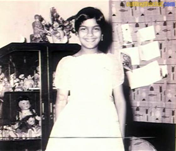 Zeenat Aman (Baby, childhood and teenage photos)