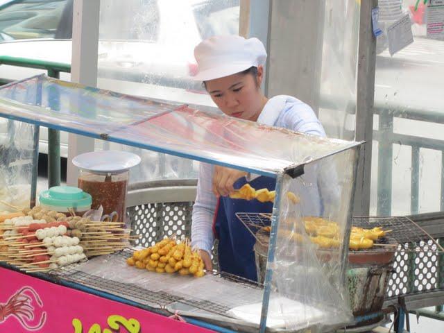 street stall vendor Bangkok