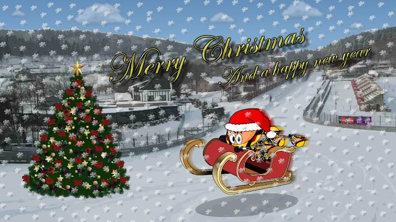 Рождественская и новогодняя открытка от Los MiniDrivers