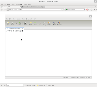 GNOME 3.2 broadway HTML5 backend